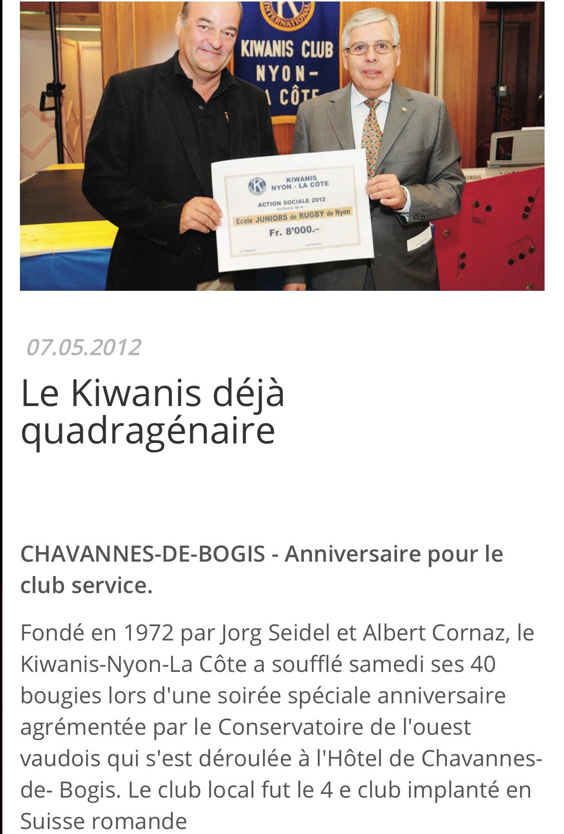 40e du Kiwanis Nyon-La Côte